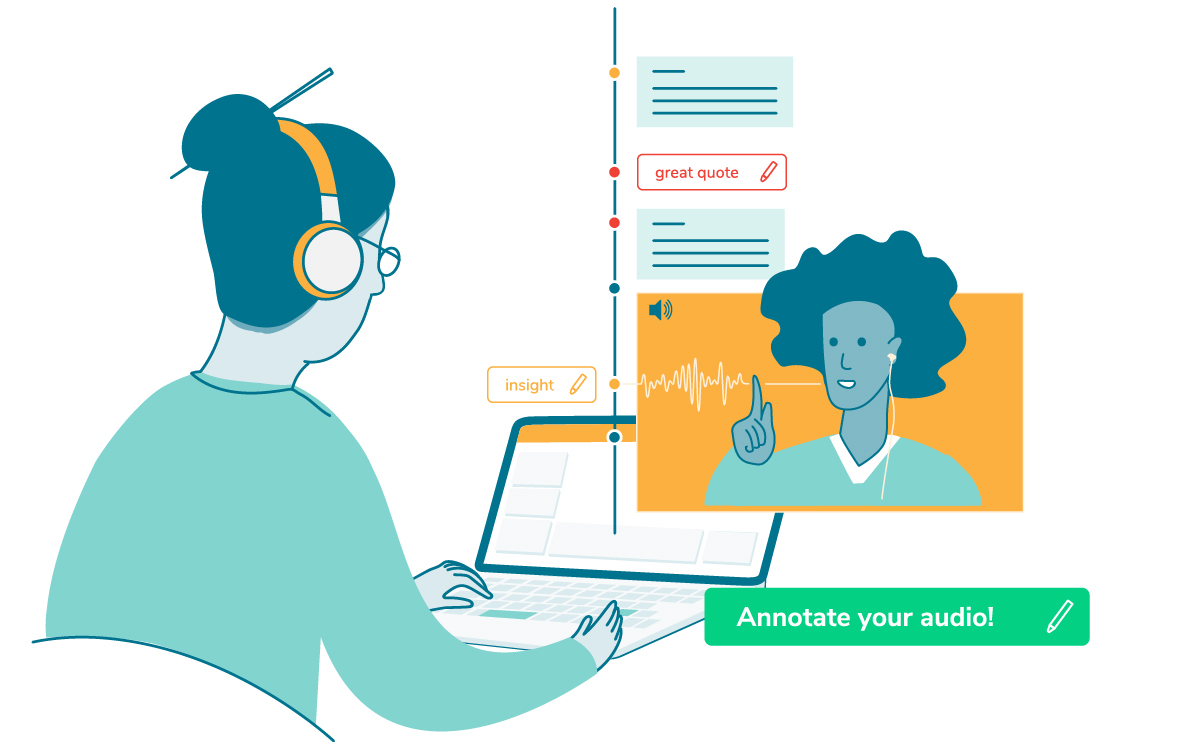 Call recording and annotation for user researchers, students, journalists, project managers and more!